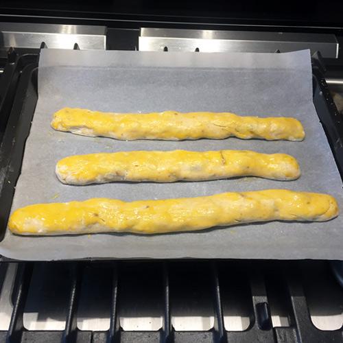 boudins de pâte crus