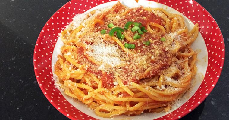 spaghetti à la tomate
